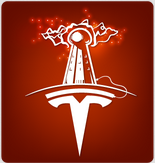 Oatmeal Logo for Tesla Museum
