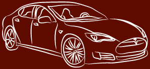 Oatmeal picture of Tesla Sedan