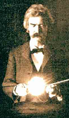 Twain at Tesla's Lab